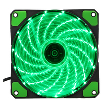 15 Lights LED PC Computer Chassis Fan Case Heatsink Cooler Cooling Fan DC 12V 4P 120*120*25mm