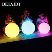 Beiaidi ip68防水rgb ledフローティングボール照らさスイミングプールボールライトusb充電式ledナイトライト付きリモート