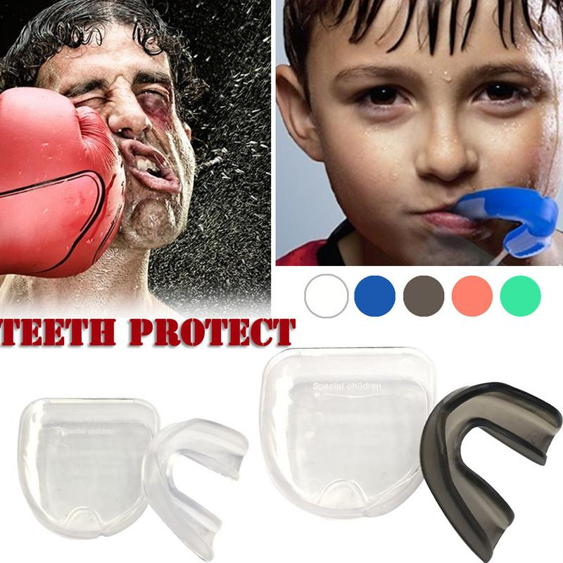 1 Set Mouthguard Mouth Guard Teeth Protect For Boxing Football Basketball Karate Muay Thai Safety Protection