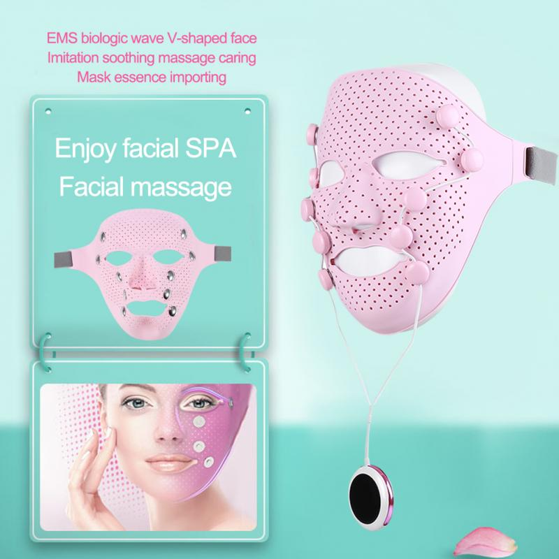 Electric Vibration Face Mask Massager Anti-wrinkle Magnet Massage Facial SPA Acne Wrinkle Removal Therapy Beauty Salon Relaxate