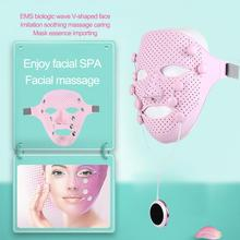 EMS Vibration Face Mask Anti wrinkle Magnet Massage Facial SPA Acne Wrinkle Removal Therapy Chin Cheek Lift Up Slim Beauty Salon