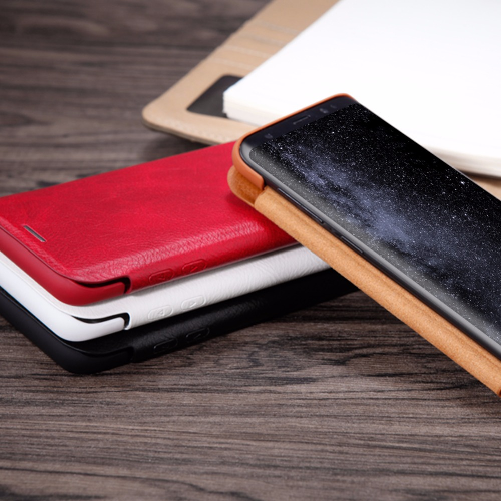 Flip Case Samsung Note 10 9 8 S8 S9 S10 S10e S20 PLus NILLKIN Qin - მობილური ტელეფონი ნაწილები და აქსესუარები - ფოტო 5