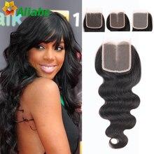 Fashion Stema Hair Company Brazilian Body Wave Closure 7a Unprocessed Brazilian Closure Natural Wave 3 Part Closure On Sale