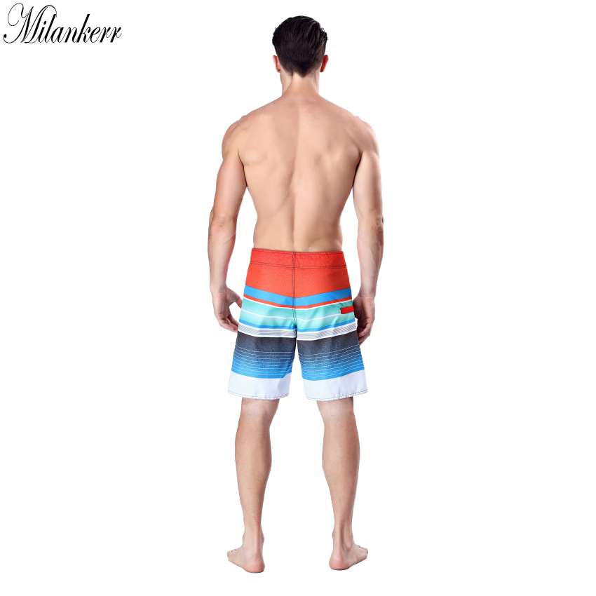 3a7a1290cc Milankerr Brand Surf Shorts for Men Twin Micro Fiber Boardshorts Stripes  Beach Swim Trunks Male Beach Shorts with One Pocket-in Surfing & Beach  Shorts from ...