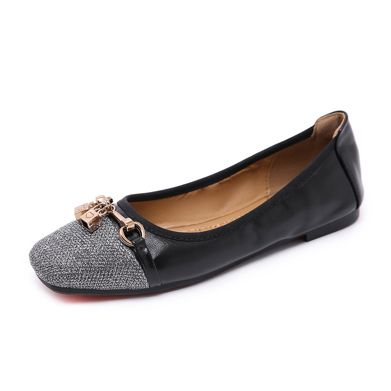 Ladies Loafers Flats-Shoes Moccasins Spring Comfortable Metal Soft Bohemian Autumn Female