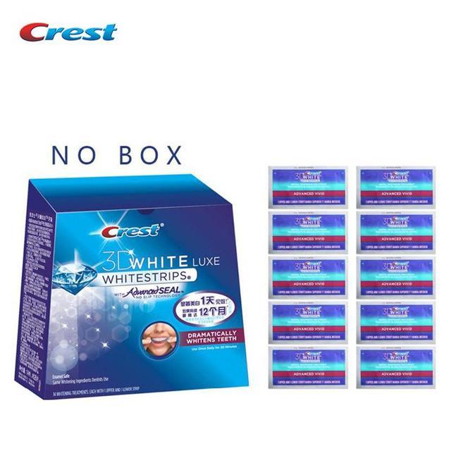 Crest 3d whitestrips advanced vivid diente dental blanqueador de tiras para blanquear los dientes durante 10 días 10/14/20 tratamientos