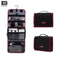BAGSMART New Travel Pouch Waterproof Portable Toiletry Kit Bag Women Cosmetic Organizer Pouch Hanging Cute Wash Bags Makeup Bag