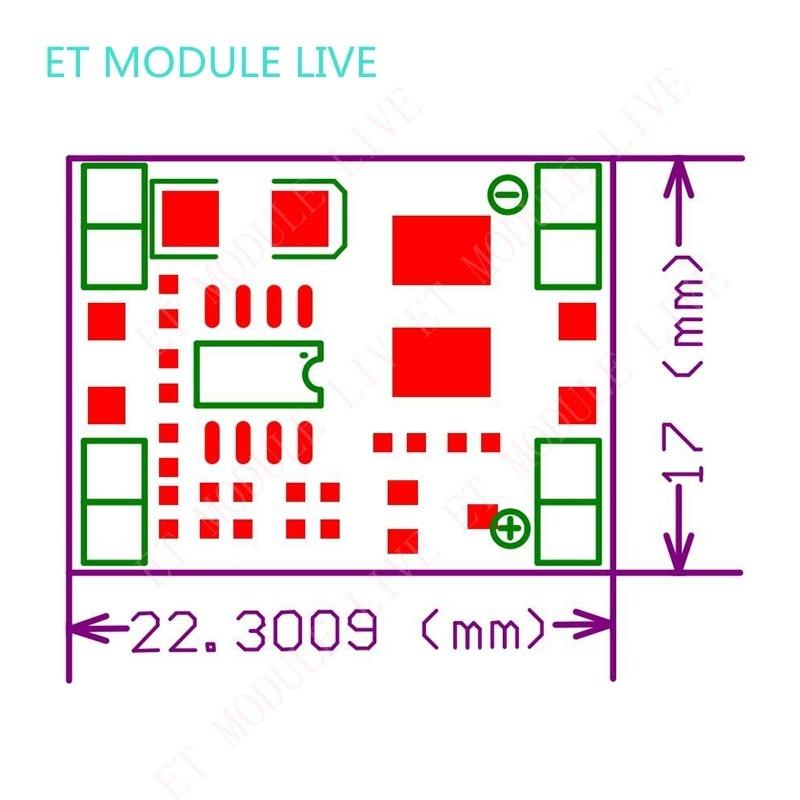 5 шт. ультра-маленький размер DC-DC понижающий модуль питания 3а Регулируемый понижающий преобразователь для Arduino MP1584EN Замена LM2596