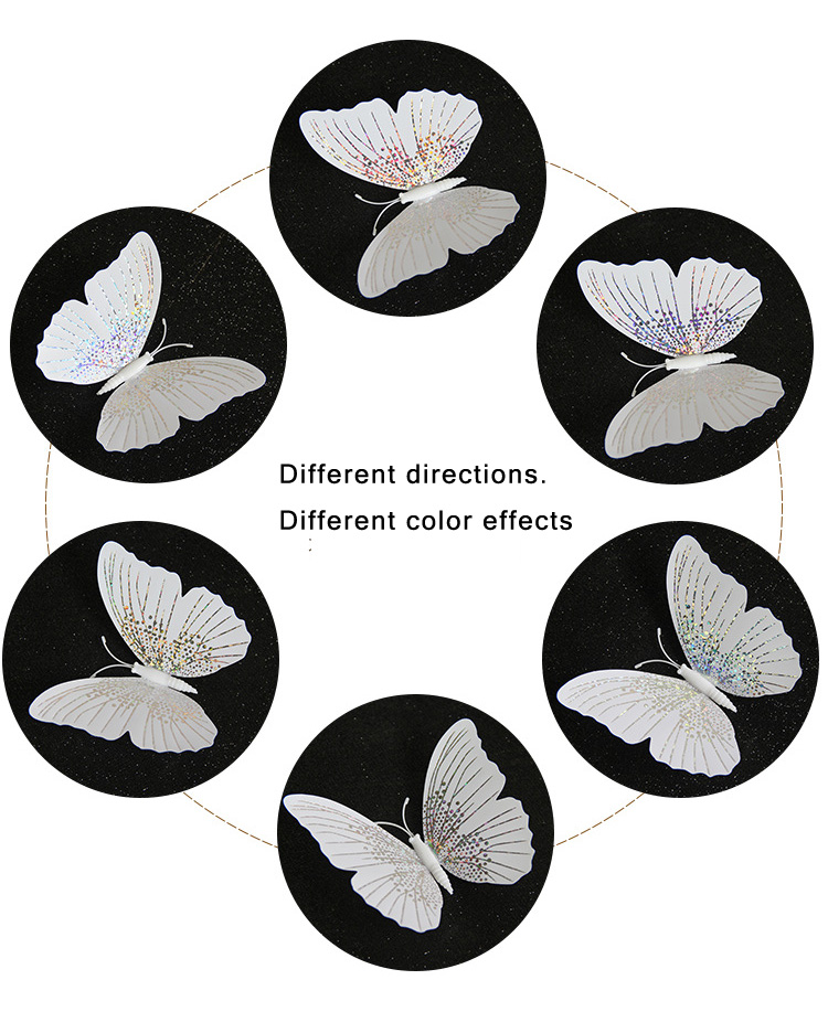 12Pcs/set Ambilight 3D Butterfly Wall Sticker Butterflies home decoration room decor Fridge Magnet wall stickers for wedding HTB1wgawLIfpK1RjSZFOq6y6nFXaN