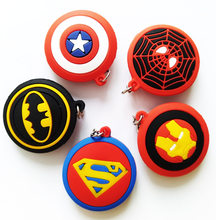 Marvel Spiderman Superman Batman Ironman Capitão América Escudo Estrela Keychain DO PVC Action Figure Toy Acessórios Do Carro Chaveiro(China)