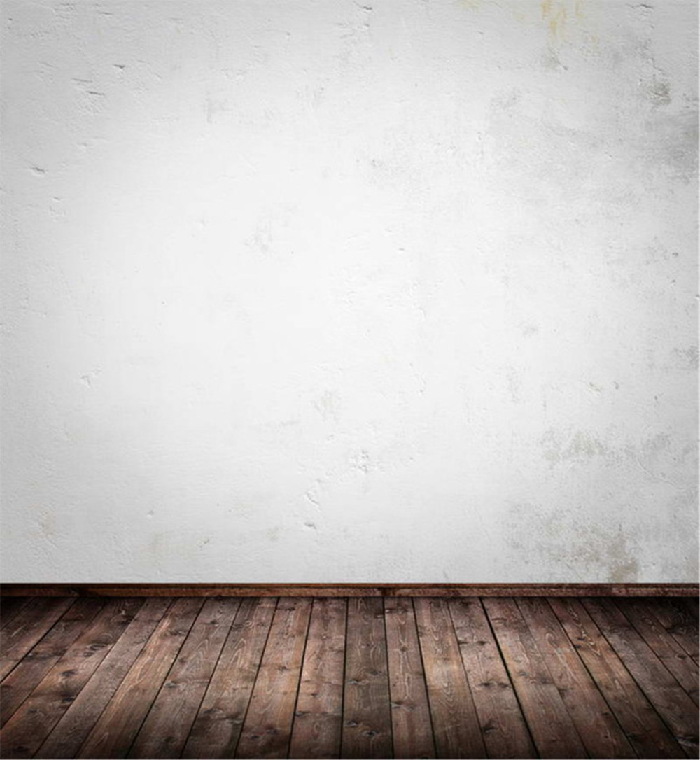 White Wall Photography Backdrops Dark Brown Wooden Floor Retro Vintage Baby New Born Photoshoot Props Photo Studio Backgrounds retro background brick wall photo studio props vinyl vintage photography backdrops wooden floor 7x5ft jieqx050