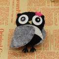 New Children Cotton Fabric Cartoon Owl Brooch Pins Fashion Jewelry Wholesale Bijoux Chirsmas Gift Kids Accessories