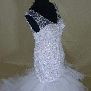 Image 3 - 2020 New African Style Amazing Heavy Handwork Beads Stunning Ruffles Mermaid Wedding Dress
