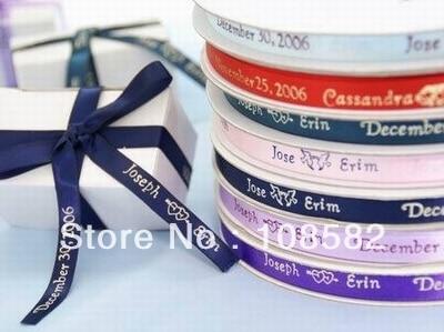 30mm Personalised Satin Ribbon Wedding Decoration Favor Ribbon Personalised Sashes