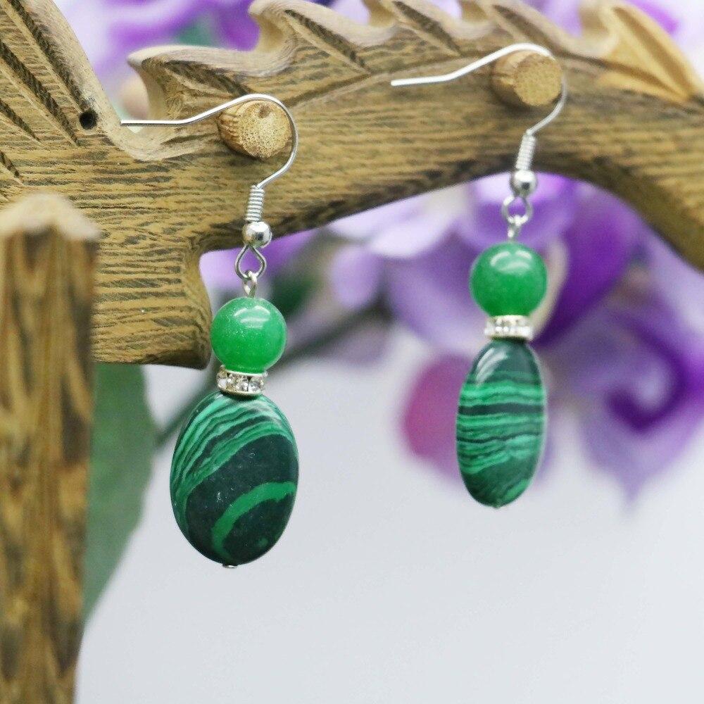 Vysoce kvalitní Classic Green Malachite korálky Náušnice jako dárky pro ženy Dívky Dámské doplňky šperky výroba Earbob Eardrop