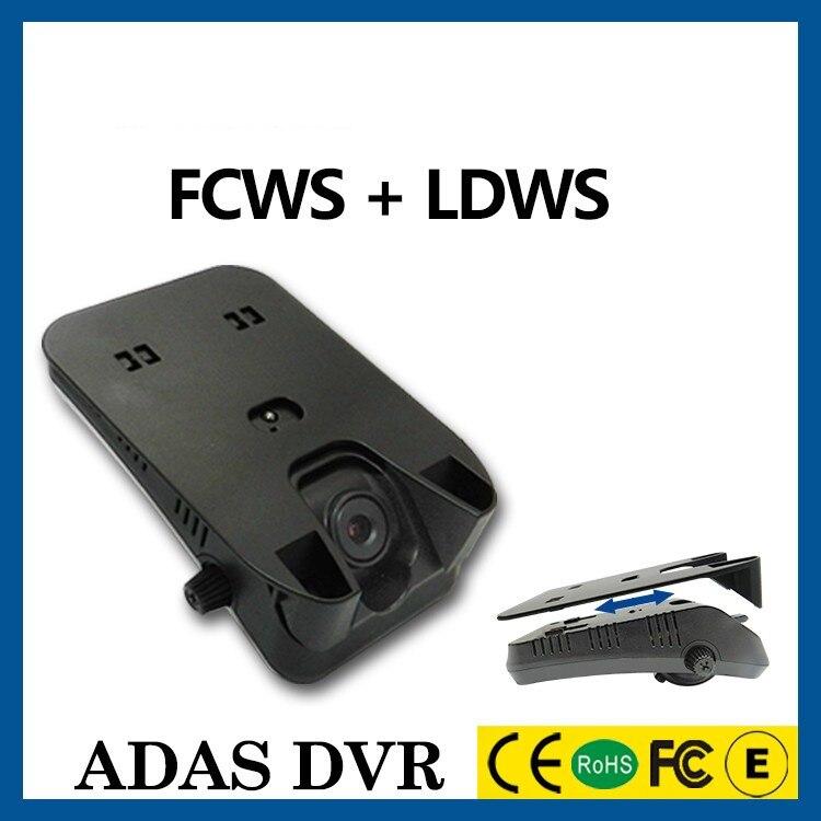Оригинальный Автомобильный видеорегистратор с FCWS ,LDWS Скрытая черная коробка, g-сенсор HD1280X720 система предупреждения о переходе и столкновен...