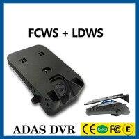 الأصلي سيارة dvr مع fcws ، ldws نوع مخفي الصندوق الأسود ، g-الاستشعار hd1280x720 departurer والأمام الاصطدام تحذير نظام حارة