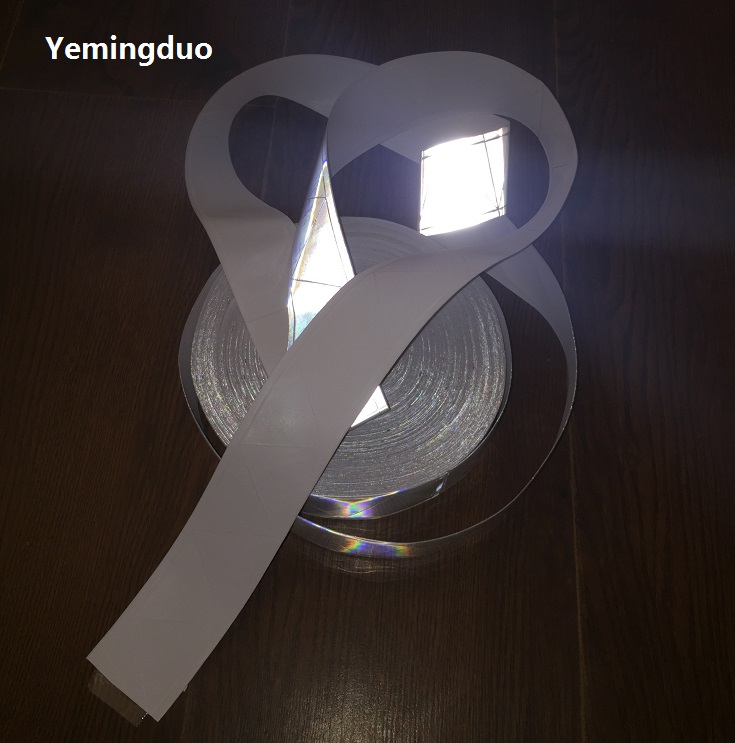 5cm*50m PVC Reflective Strip Reflective Safety Warning Tape For Clothing