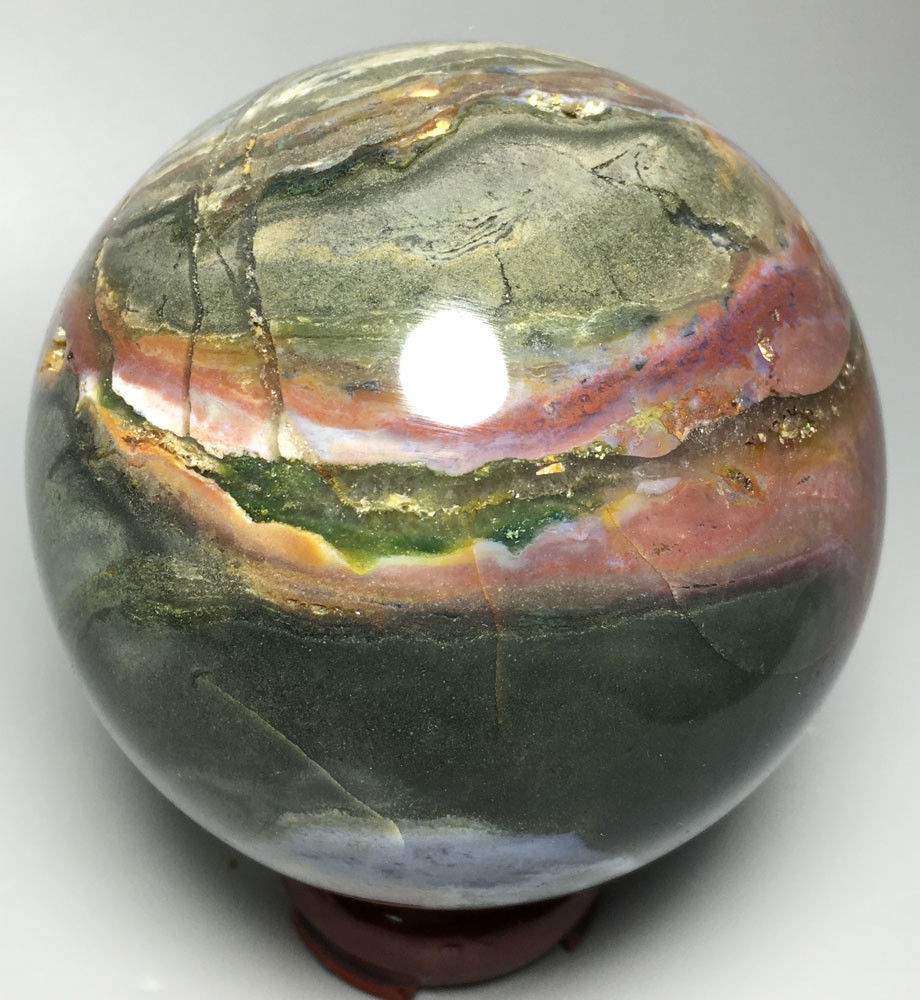 729g  NATURAL OCEAN JASPER QUARTZ  CRYSTAL BALL HEALING crystals for power729g  NATURAL OCEAN JASPER QUARTZ  CRYSTAL BALL HEALING crystals for power