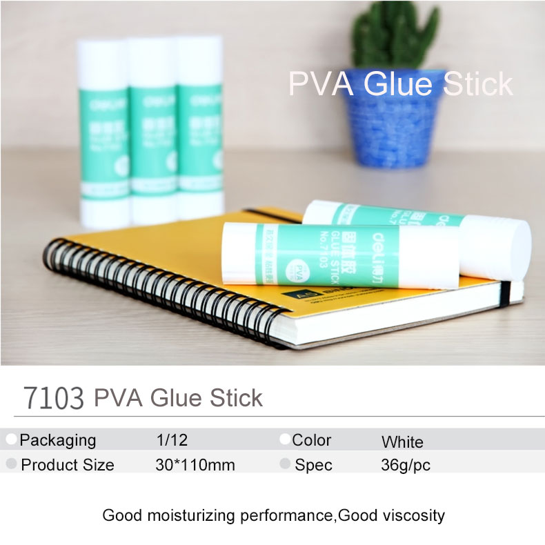 Deli жидкий клей карандаш pva большого размера 36 г высокая