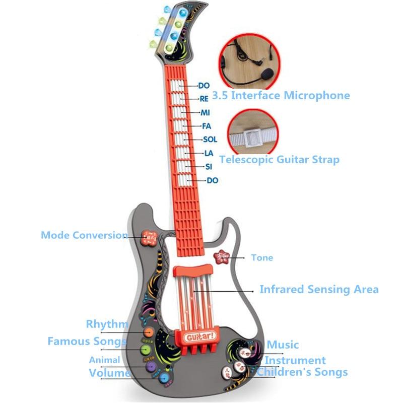 Hiqh qualité rien cordes musique électrique guitare magique enfants musique PVC Instruments jouets éducatifs pour enfants boîte cadeau J93 - 4