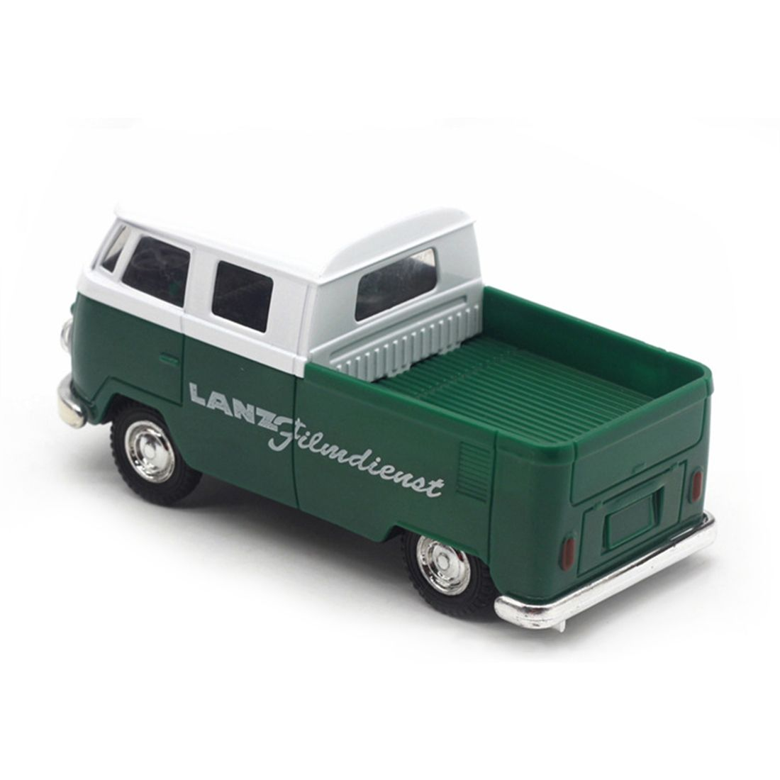 Green simulation 1:32 sound and light music pull back retro van truck express car alloy  ...