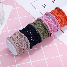 CHIMERA Wide Cotton Hair Ties 5Pcs/Set Elastics Scrunchies Ponytail Holder Curly Mesh Multicolor Ropes for Thick