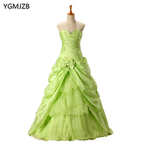 Cheap Quinceanera Dressess Green 2018 Ball Gown Sweetheart Beaded Vestidos De 15 Anos Sweet 16 Dress Debutante Gowns