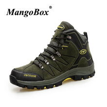 2018 Outdoor Hiking Boots Men Autumn Winter Trekking Mountain Sport Shoes Comfortable Breathable Size 39-45 Hiking Sneakers