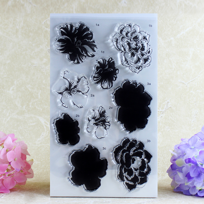 flower Transparent Clear Stamp DIY Silicone Seals Scrapbooking/Card Making/Photo Album Decoration Accessories A046 loving heart and ballon transparent clear stamp diy silicone seals scrapbooking card making photo album craft cl 285