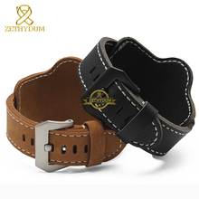 Fashion Genuine leather bracelet watch strap mens watchband wristwatches band Nubuck 20mm 22mm 24mm 26mm watchbands wristband