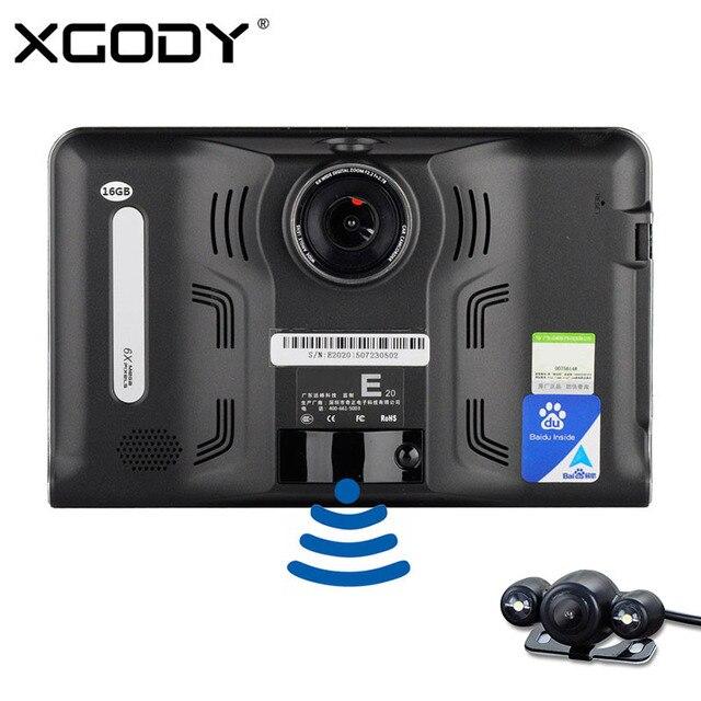 Оригинал Eroad E20 7 дюймов Android Автомобильный ВИДЕОРЕГИСТРАТОР Gps-навигация 512 М 16 ГБ Tablet PC Радар-Детектор Wi-Fi FM с Камеры Заднего вида