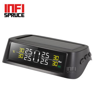 Infispruce Smart Car TPMS Tire Pressure Monitoring System Solar Power charging Digital LCD Display Security Alarm System
