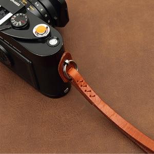 Image 3 - Cam in WS010 3021 3026 İtalya Cowskin Kamera Bilek Kayışı Inek Derisi Deri DSLR spire lamella el kemeri 4 renk