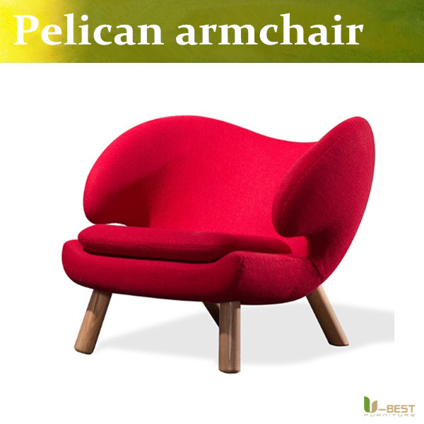 U BEST soft cashmere Pelican chair wood sofa chair Pelikan Armchair Beanbag chair for Living room