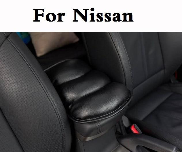 new Car Soft Center Console Armrest Pad Cover Saver Mats For Nissan 350Z 370Z AD Almera Classic Altima Armada Avenir Juke Nismo