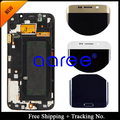 Free shipping 100% Original For Samsung Galaxy S6 Edge G925F  LCD Screen Digitizer Assembly Frame - Golden/white/Blue