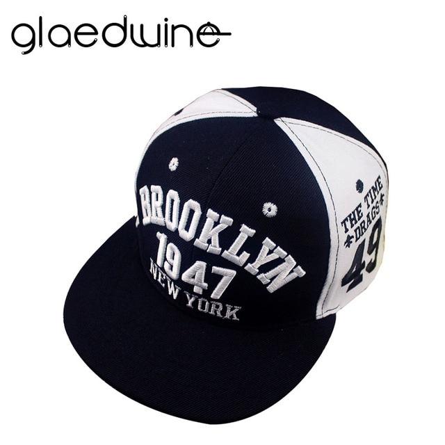 Glaedwine 1947 Brooklyn Style Baseball Cap Sport Hat Gorras Planas Snapback  New York Hip Hop Hats 1370cfb09d2
