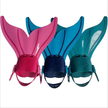 1 PCS Children Kids Swimming Fins Flexible Snorkeling Diving Foot Fins Flippers Boys Girls Training Shoes Tail Diving Equipment children outdoor swimming flippers diving monofin for kids training learning accessories 8
