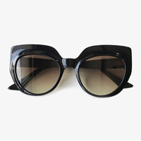 2019 New Cat Eye Women Sunglasses Oversize Men Vintage Big Frame Sun Glasses Female Eyewear Black Sunglasses Brand Designer