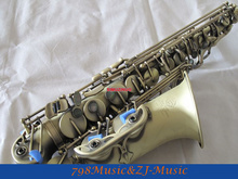 NEW Professional Antique Copper Simulation Eb Alto Saxophone High F# With Case