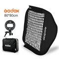 Софтбокс Godox регулируемая вспышка 31*31 дюймов 80 см * 80 см + s-образный кронштейн + набор для крепления сотовой сетки для вспышки Speedlite
