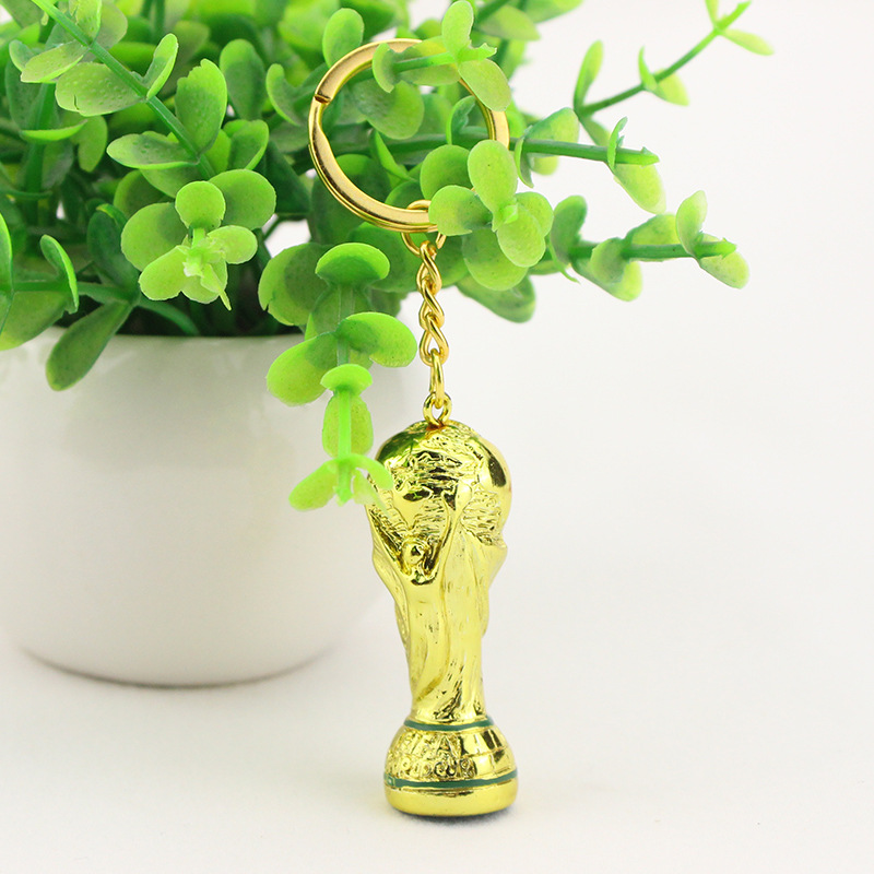 New Arrival 2018 World Cup Souvenir Keychain Decoration Fashionable Russian Gift Fans Favourite Titan Cup