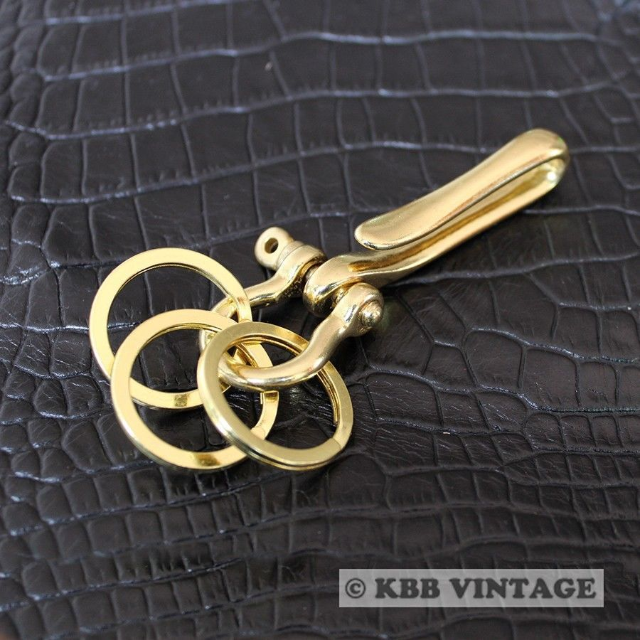 SKU16) Solid Brass Fishhook Keychains Keyholder M High quality ...