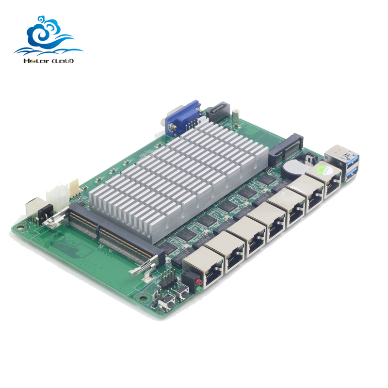 купить HLY Motherboard Mini 6 Ethernet LAN Mini ITX Celeron 1037U 1.80GHz ITX Motherboard Industrial Board for pfsense firewall router онлайн