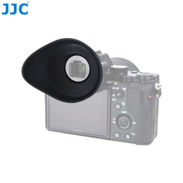 JJC ES-A7G Large Size Comfortable Soft Silicone Rubber Glasses User Eyepiece  Rotates 360 Degree Eyecup For Sony FDA-EP16