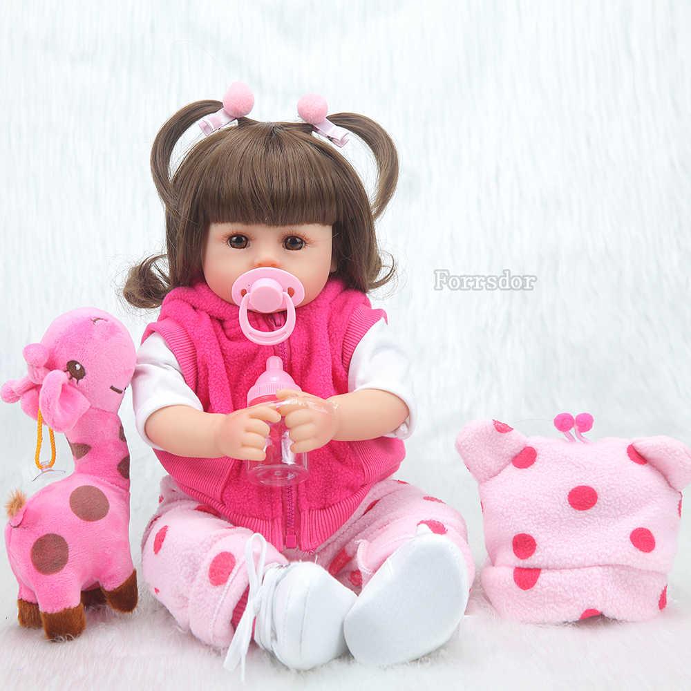 Bebê reborn boneca 43 cm new handmade silicone renascer bebê adorável menino realista Bonecas menina menino menina lol boneca de silicone