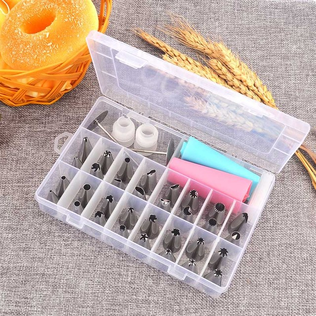 Cream 38 Pcs Baking Pastry Tool Pastry Tools Bakeware Confectionery Bags Nozzles Confectionery Cake Shop Home Kitchen Dining