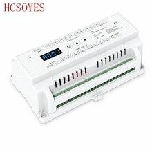 D24 24 CV Canal Levou Decodificador DMX512 D24;DC5 24V entrada; 3A * 24CH DMX512 saída PWM led RGB tira controlador Decodificador