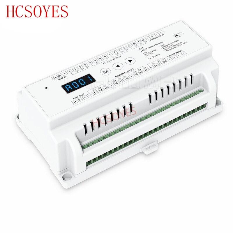 D24 24 チャンネル CV Led DMX512 デコーダ D24; DC5 24V 入力; 3A * 24CH PWM 出力 led DMX512 RGB ストリップデコーダコントローラ  グループ上の ライト & 照明 からの RGBコントローラ の中 1
